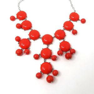 New Susan Graver Necklace Orange Coral Beaded
